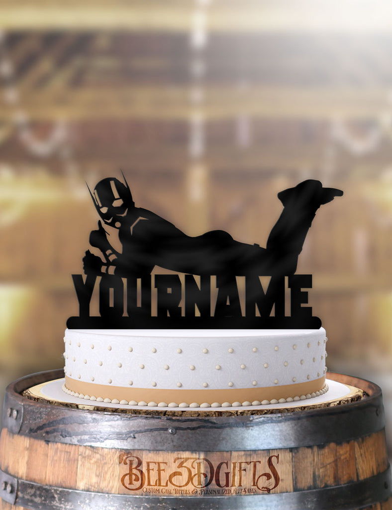 Amazing Personalized Ant Man Cool Birthday Cake Topper Funny Birthday Cards Online Sheoxdamsfinfo