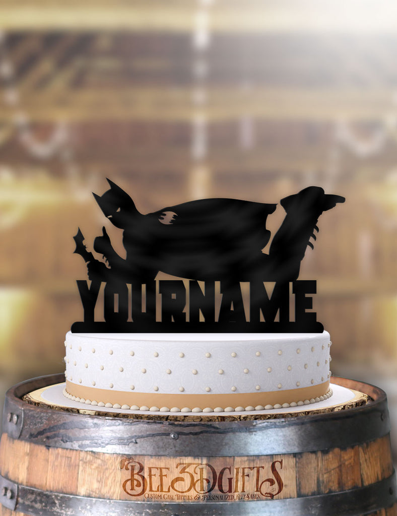 Wondrous Personalized Batman Cool Birthday Cake Topper Personalised Birthday Cards Paralily Jamesorg