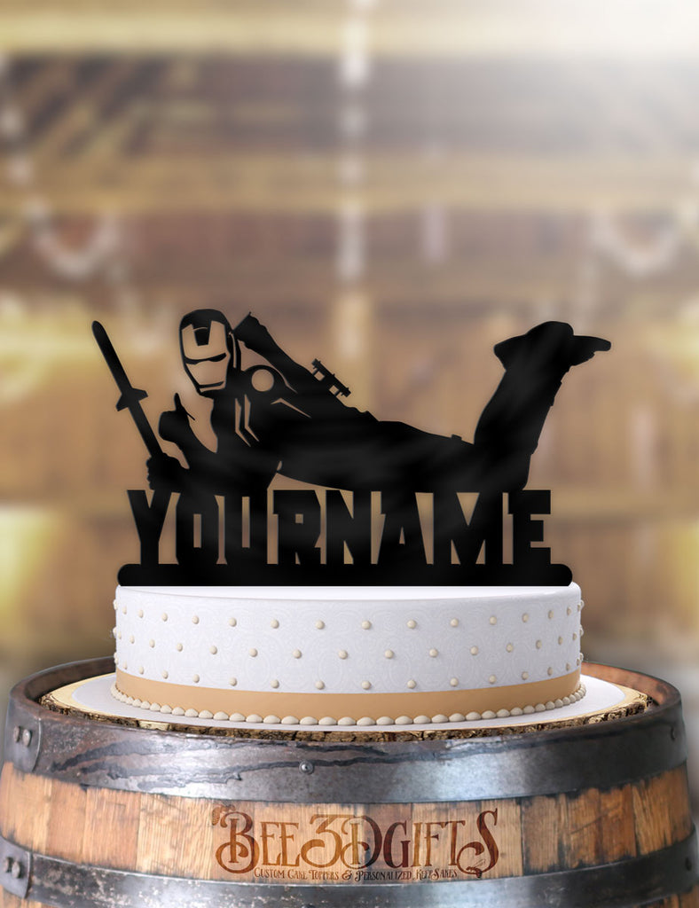 Personalized Iron Man Cool Birthday Cake Topper - Bee3dgifts