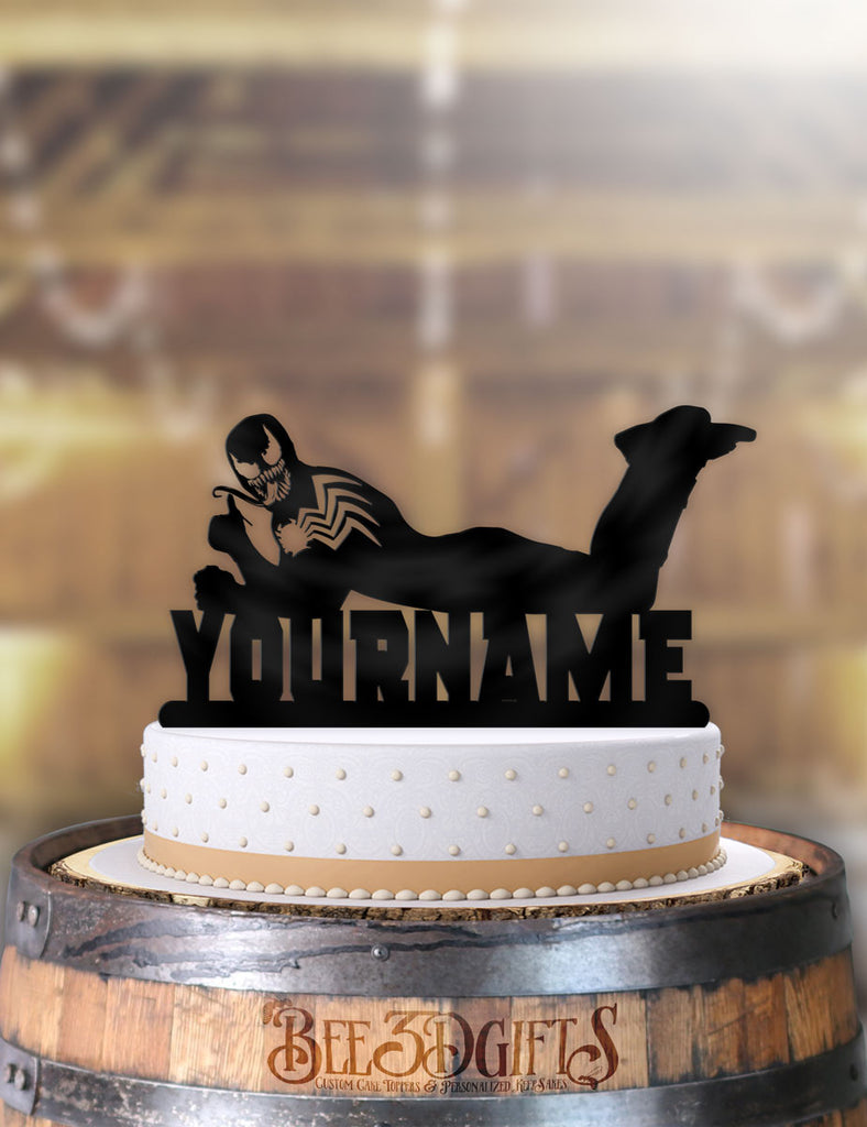 Personalized Venom Cool Birthday Cake Topper - Bee3dgifts