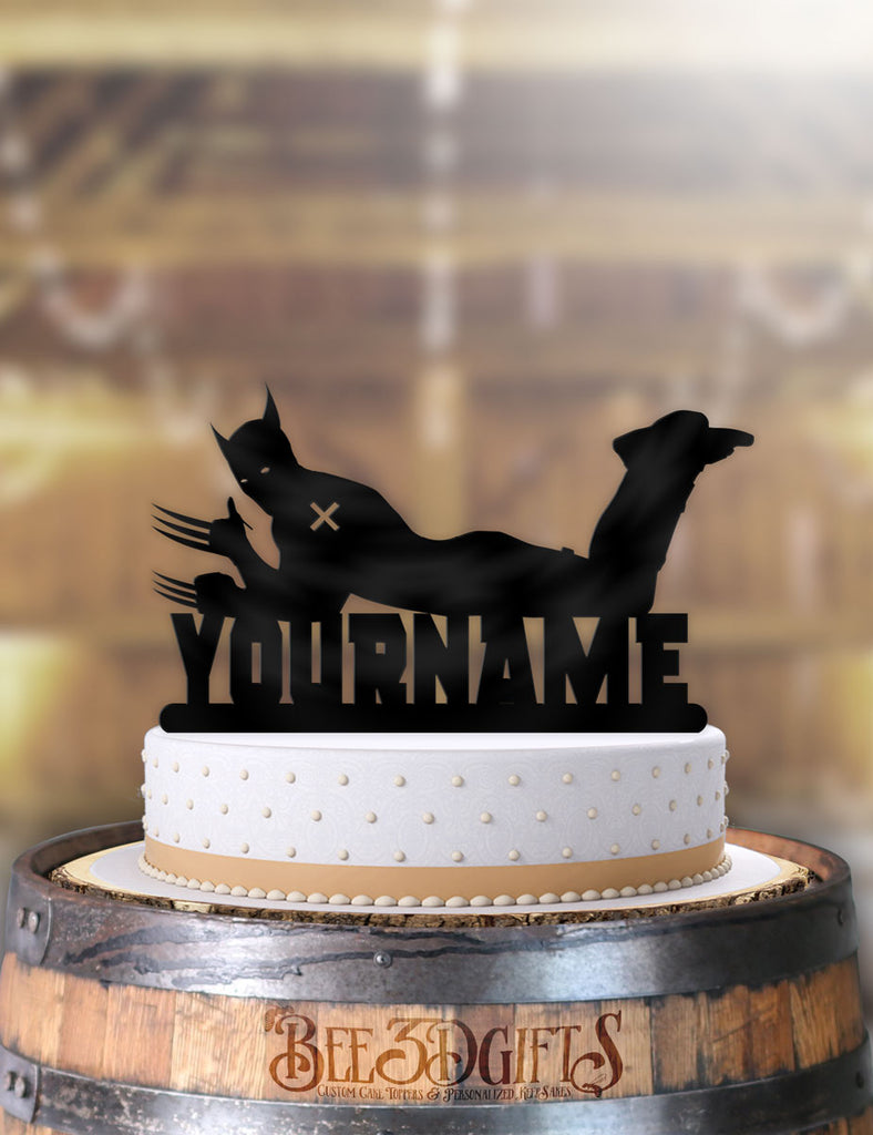 Magnificent Personalized Wolverine Cool Birthday Cake Topper Personalised Birthday Cards Veneteletsinfo
