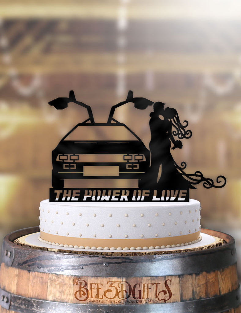 Delorean The Power Of Love Couple Cake Topper - Bee3dgifts