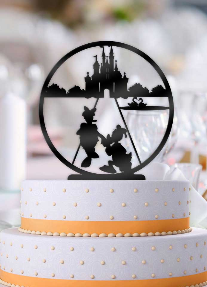 Disney Main Street Donald Proposing Daisy Wedding Cake Topper - Bee3dgifts