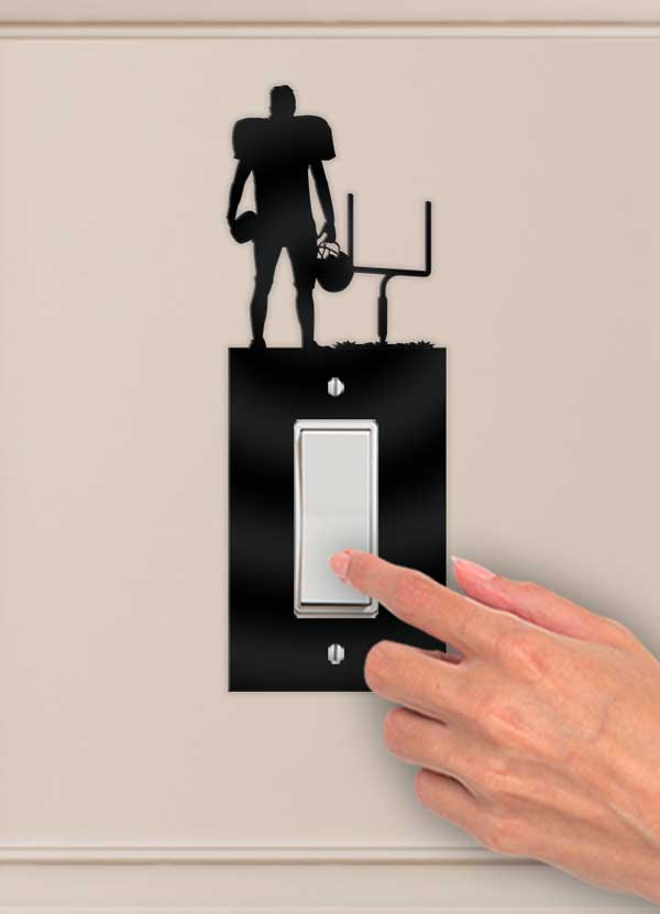 Football Player Decorative Wall Switch Outlet Plate - Bee3dgifts