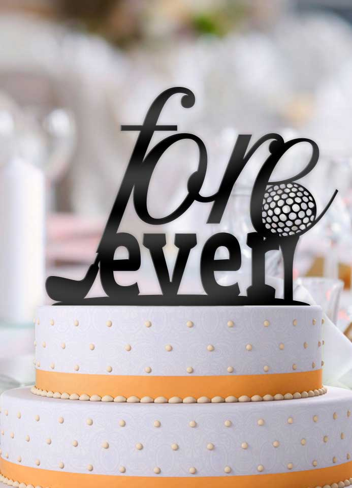 Fore Ever Golfing Wedding Cake Topper - Bee3dgifts