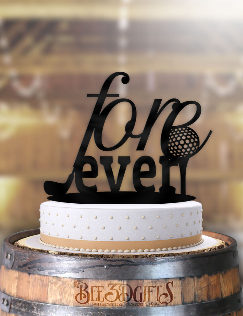 Fore Ever Golfing Cake Topper - Bee3dgifts