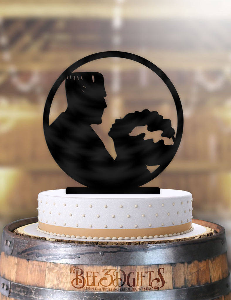 Frankenstein and Bride Profile Cake Topper - Bee3dgifts