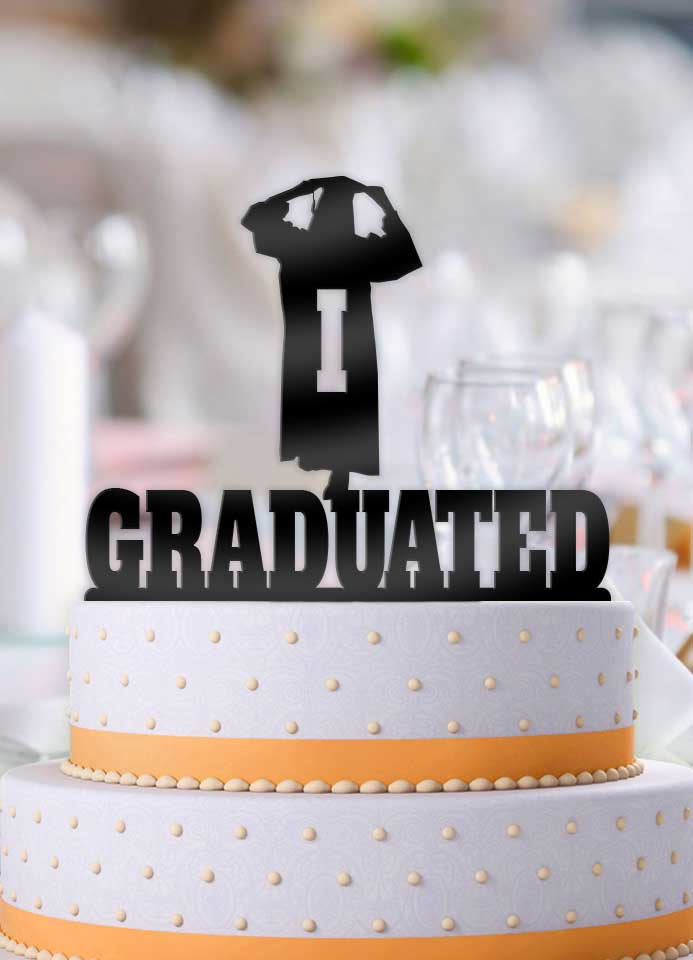 Personalized I Graduated Female Graduation Cake Topper - Bee3dgifts