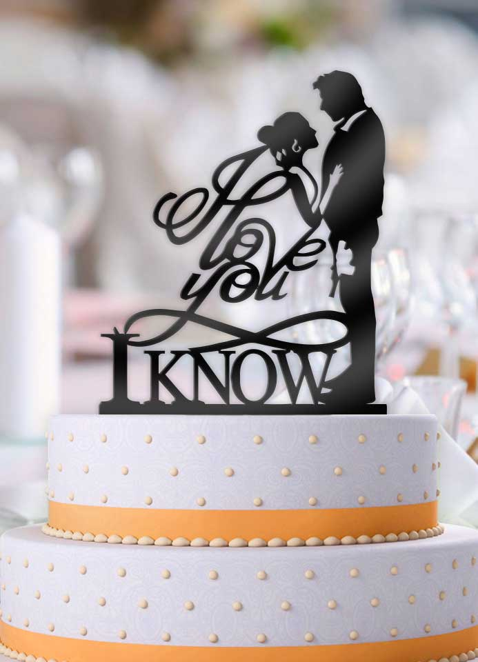 Star Wars Han and Leia I Love You, I Know Pt 2 Wedding Cake Topper - Bee3dgifts