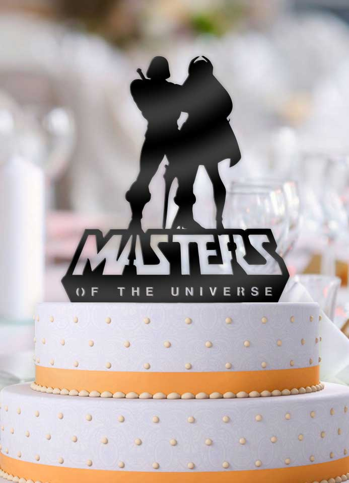 He-man and She-ra Masters of the Universe Wedding Cake Topper - Bee3dgifts