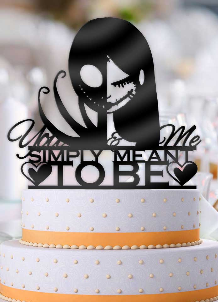 Jack and Sally Simply Meant To Be Cake Topper - Bee3dgifts