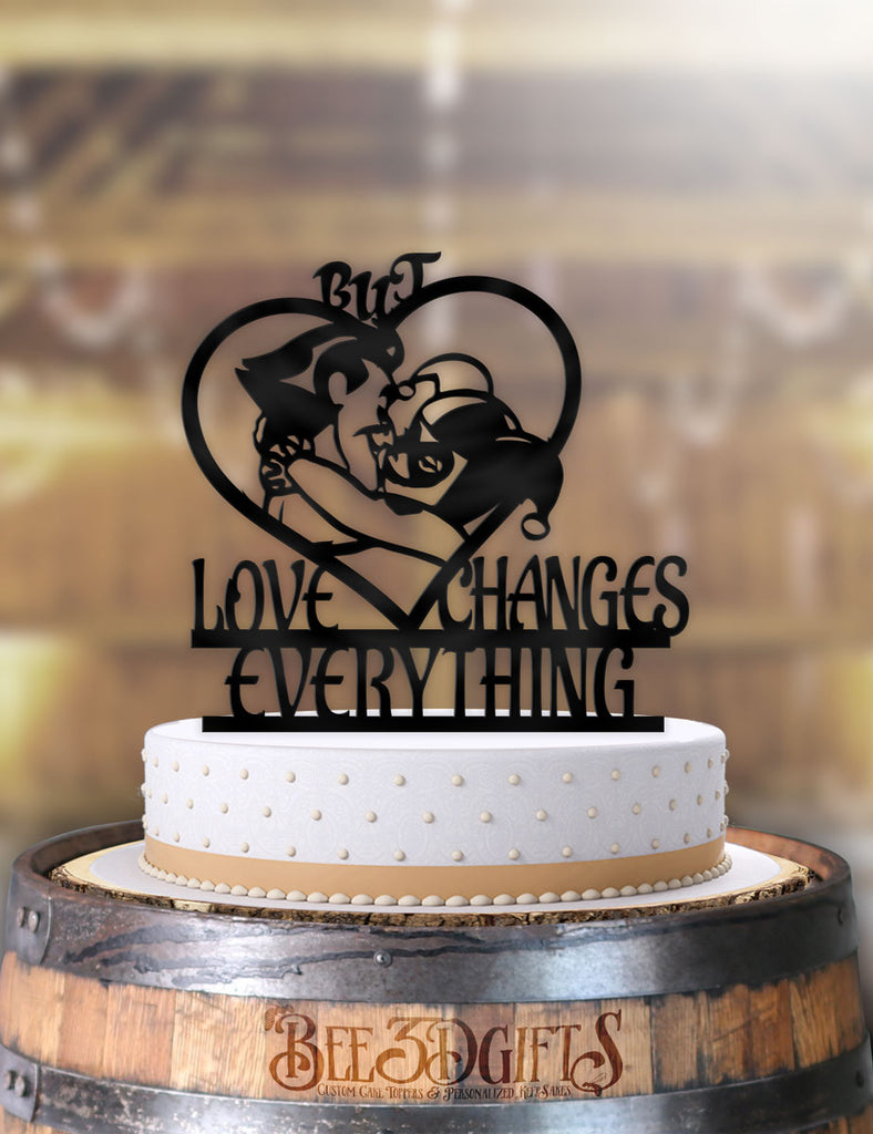 Joker and Harley But Love Changes Everything Cake Topper - Bee3dgifts