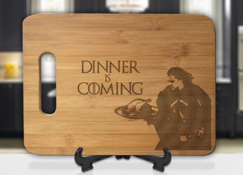 Jon Snow Dinner Is Coming Engraved Cutting Board - Bee3dgifts