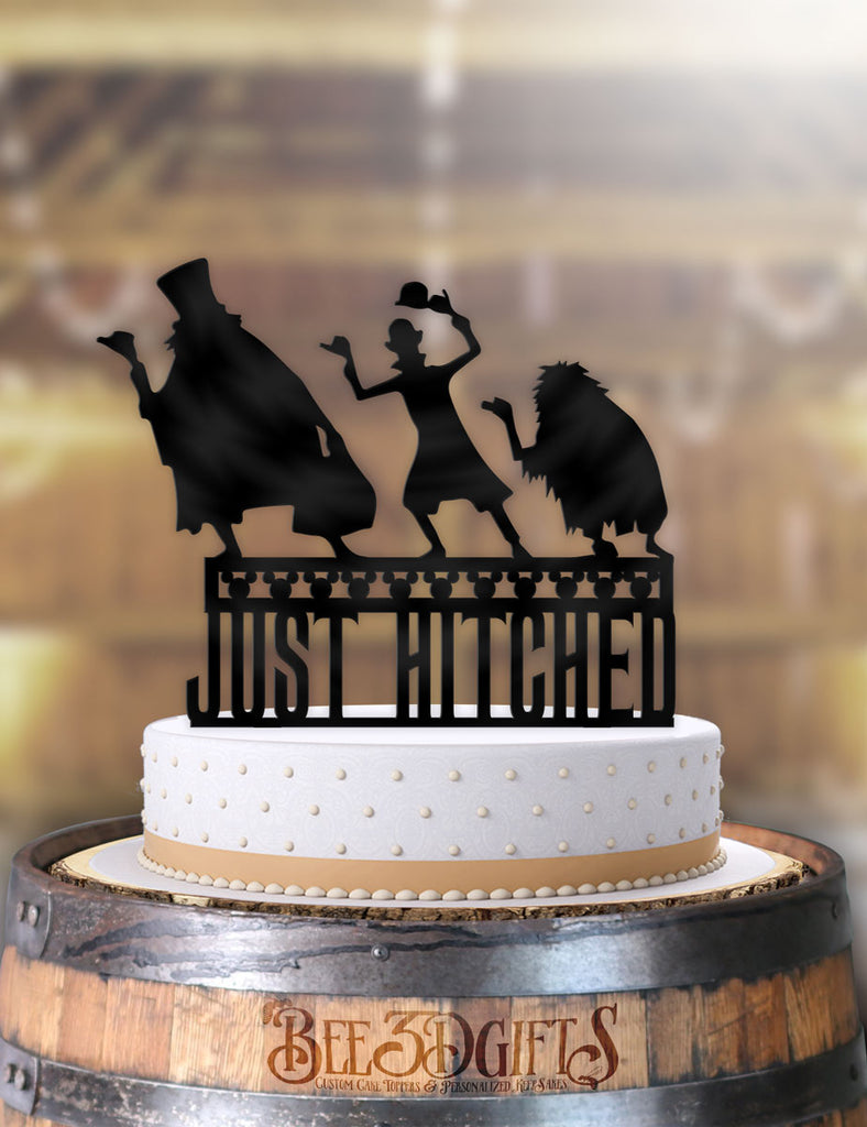 Disney Hitchhiking Ghosts Just Hitched Cake Topper - Bee3dgifts