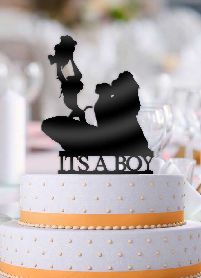 Disney Lion King Its A Boy! Baby Shower Cake Topper - Bee3dgifts