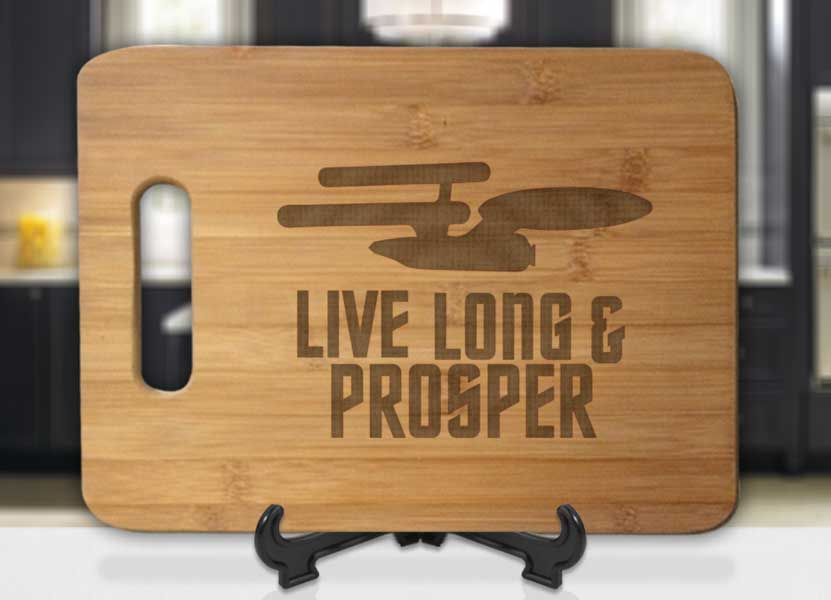 Star Trek Live Long and Prosper Engraved Cutting Board - Bee3dgifts