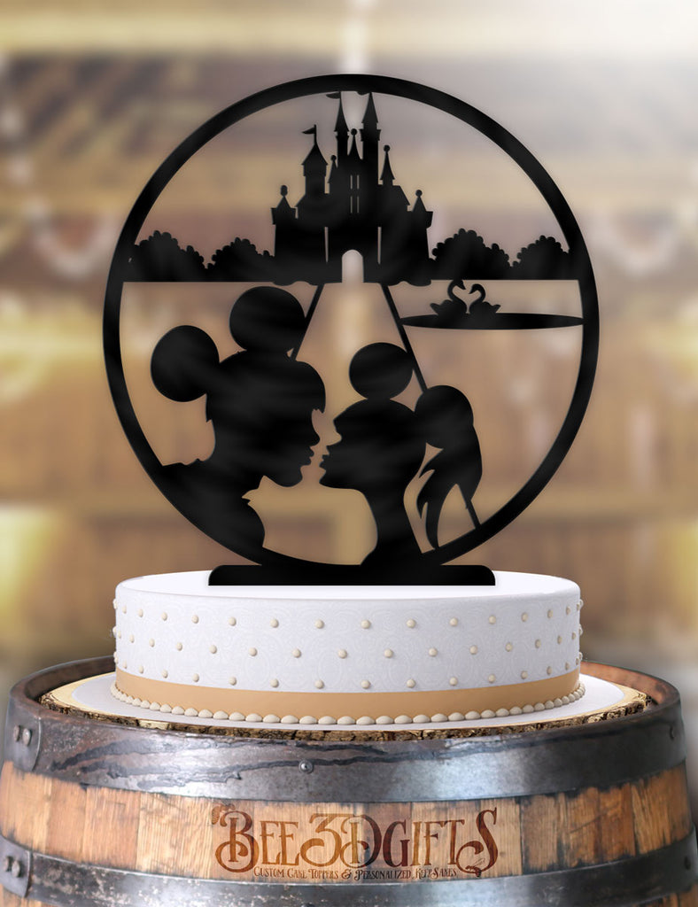 Disney Main street Kiss Couple Cake Topper - Bee3dgifts