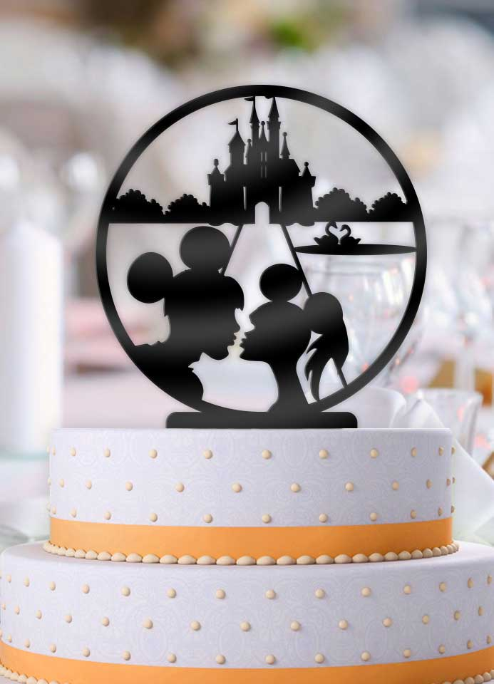 Disney Main street Kiss Couple Wedding Cake Topper - Bee3dgifts
