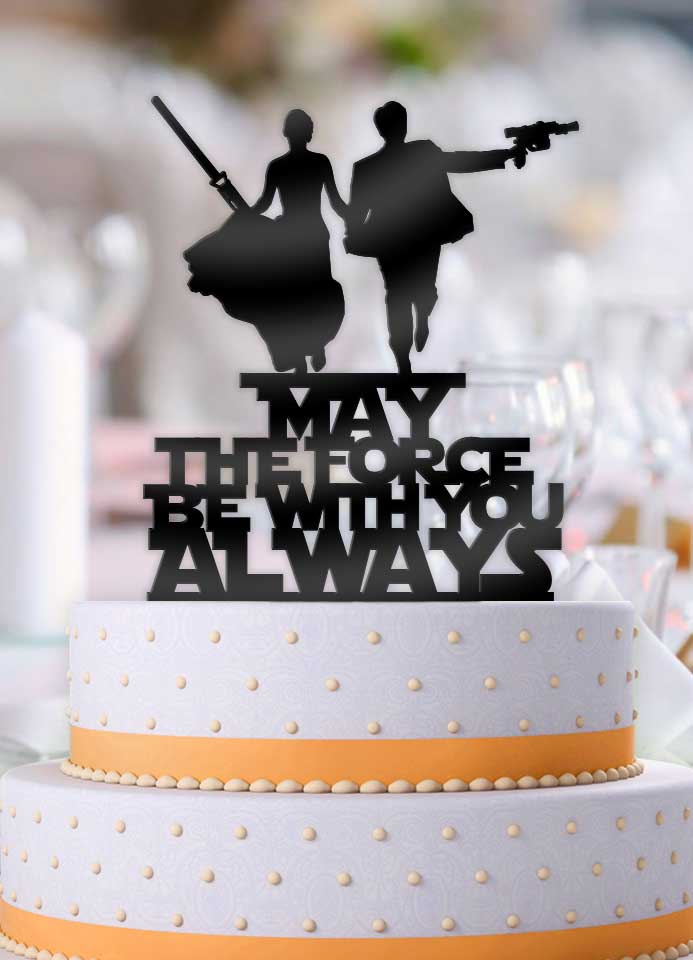 Star Wars Couple May The Force Be With You Always Cake Topper - Bee3dgifts