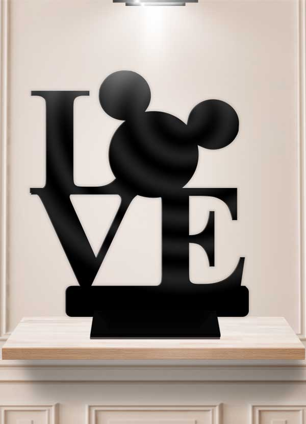 Disney Love Table Decor Display Centerpiece Stand - Bee3dgifts