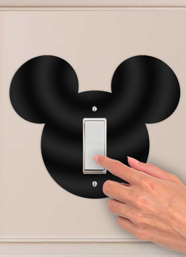 Mickey Head Decorative Wall Switch Outlet Plate - Bee3dgifts