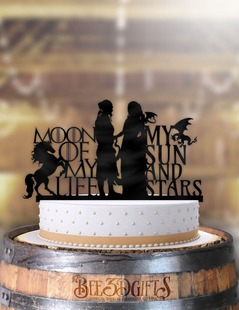 GoT Moon of my Life, My Sun and Stars Cake Topper - Bee3dgifts