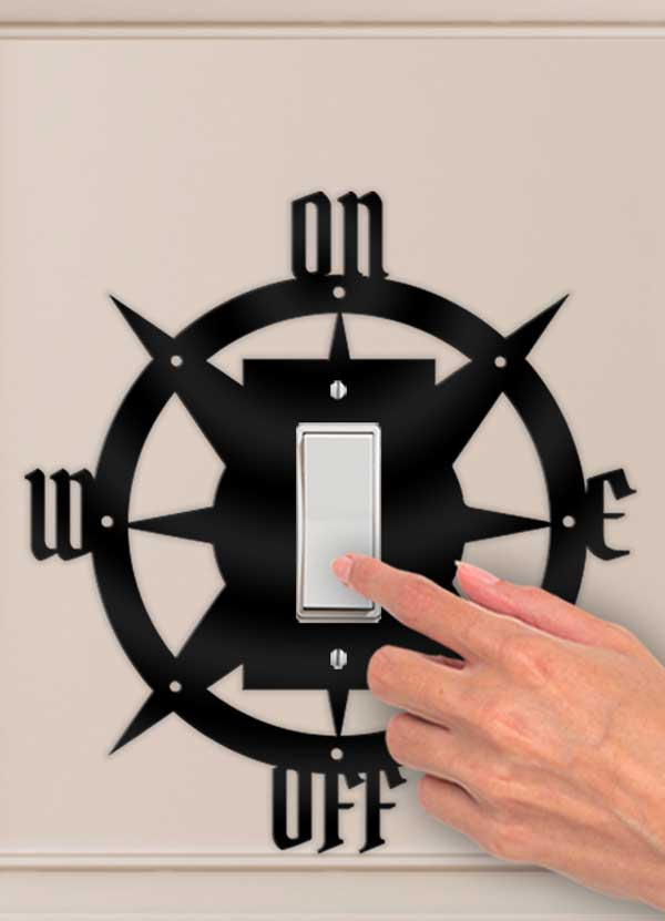 Nautical Compass Decorative Wall Switch Outlet Plate - Bee3dgifts