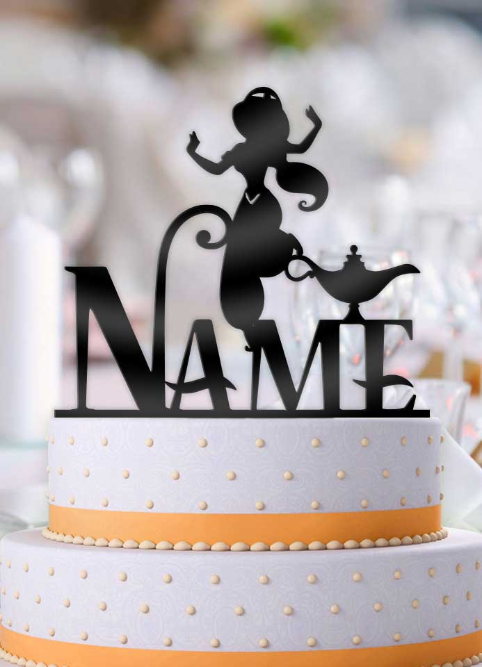 Personalized Jasmine with Name Birthday Cake Topper - Bee3dgifts