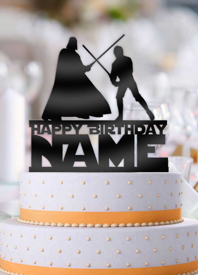 Outstanding Personalized Star Wars Luke And Vader Fight Happy Birthday With Name B Funny Birthday Cards Online Elaedamsfinfo