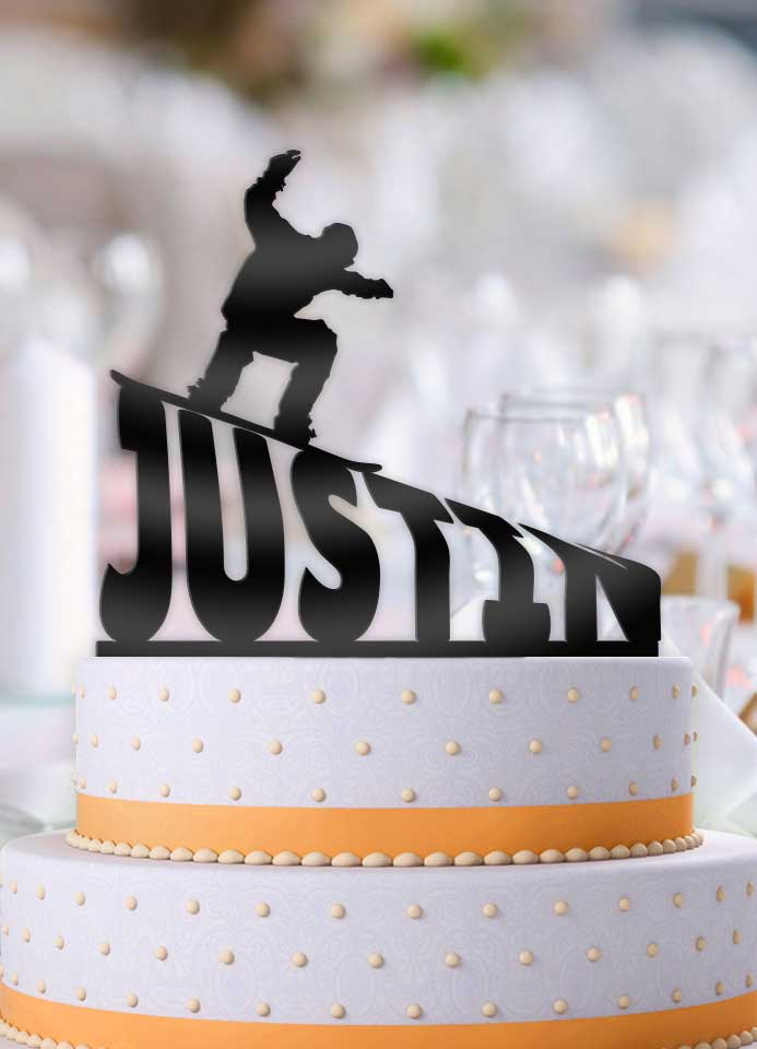 Personalized Snowboarder Male Birthday Cake Topper - Bee3dgifts