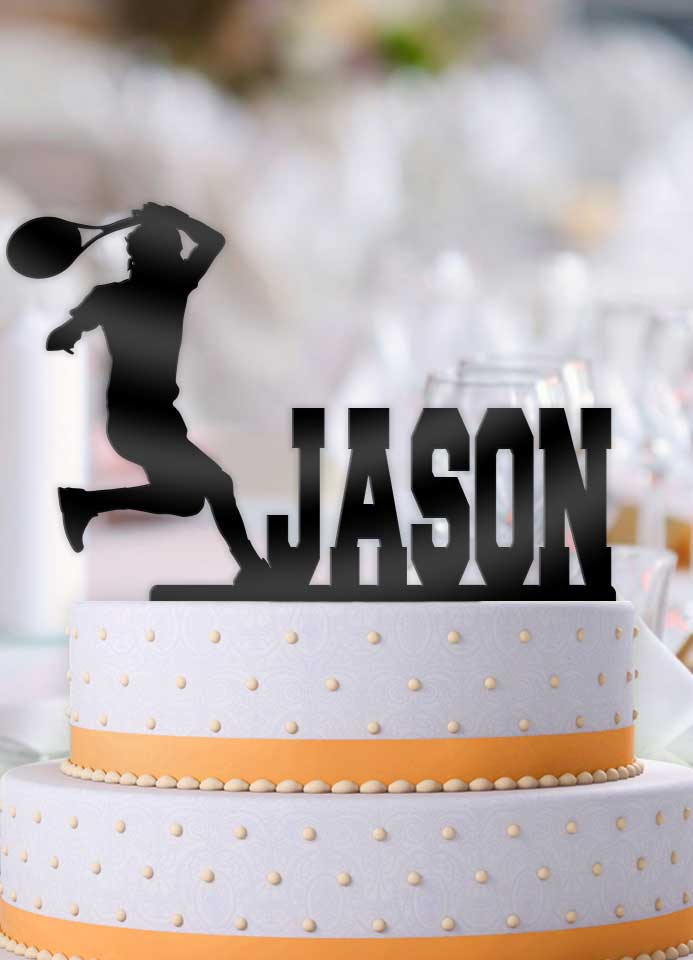 Personalized Male Tennis Birthday Cake Topper - Bee3dgifts