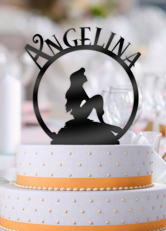 Personalized Mermaid Dream Birthday Cake Topper - Bee3dgifts