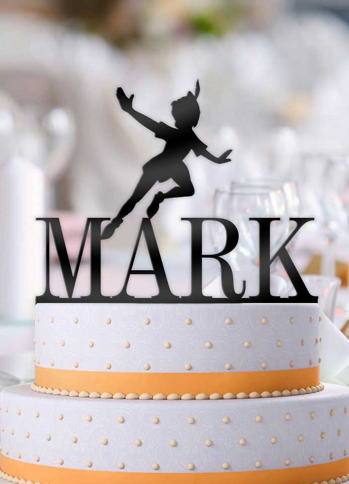 Personalized Peter Pan with Name Birthday Cake Topper - Bee3dgifts