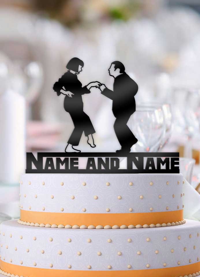 Pulp Fiction Jack Rabbit Slims Double Name Cake Topper - Bee3dgifts