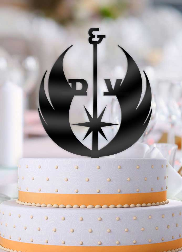 Personalized Star Wars Alliance with Initials Cake Topper - Bee3dgifts