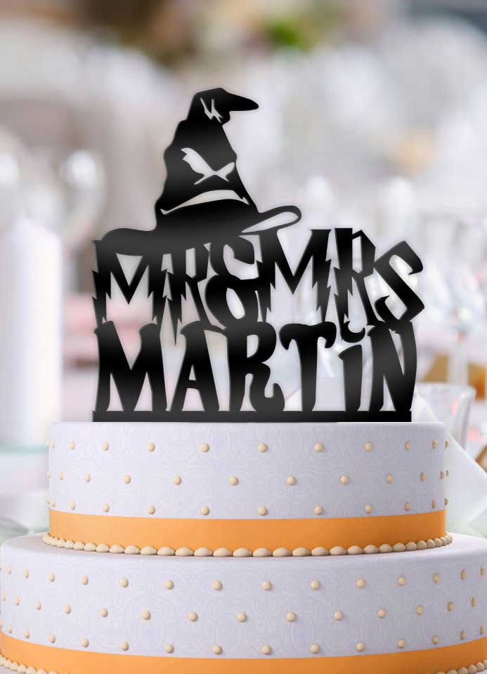 Personalized Harry Potter Sorting Hat with Name Wedding Cake Topper - Bee3dgifts