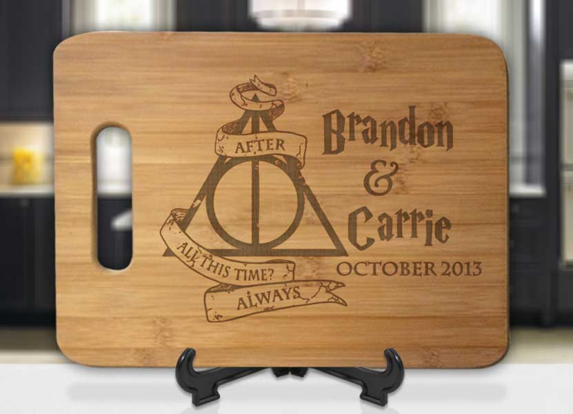 Personalized Harry Potter After All This Time Always with Names and Date Engraved Cutting Board - Bee3dgifts