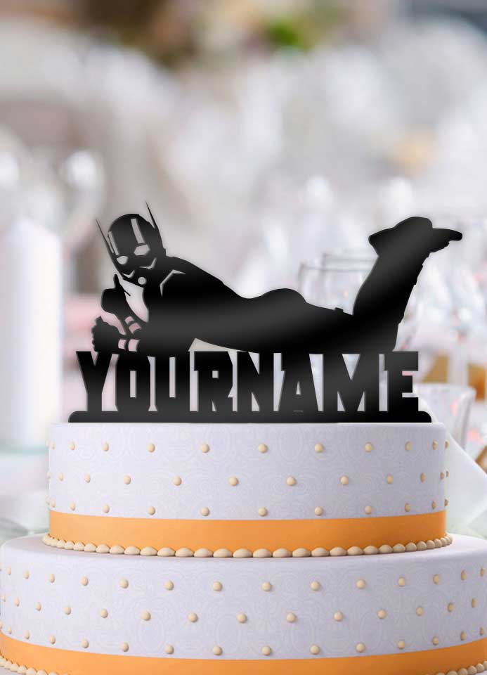 Admirable Personalized Ant Man Cool Birthday Cake Topper Funny Birthday Cards Online Elaedamsfinfo