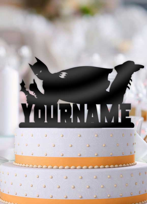 Personalized Batman Cool Birthday Cake Topper - Bee3dgifts
