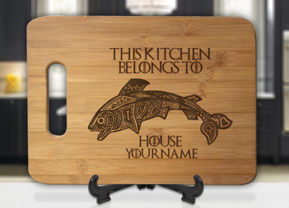 Personalized Name GoT Tully This Kitchen Belongs To House Engraved Cutting Board - Bee3dgifts
