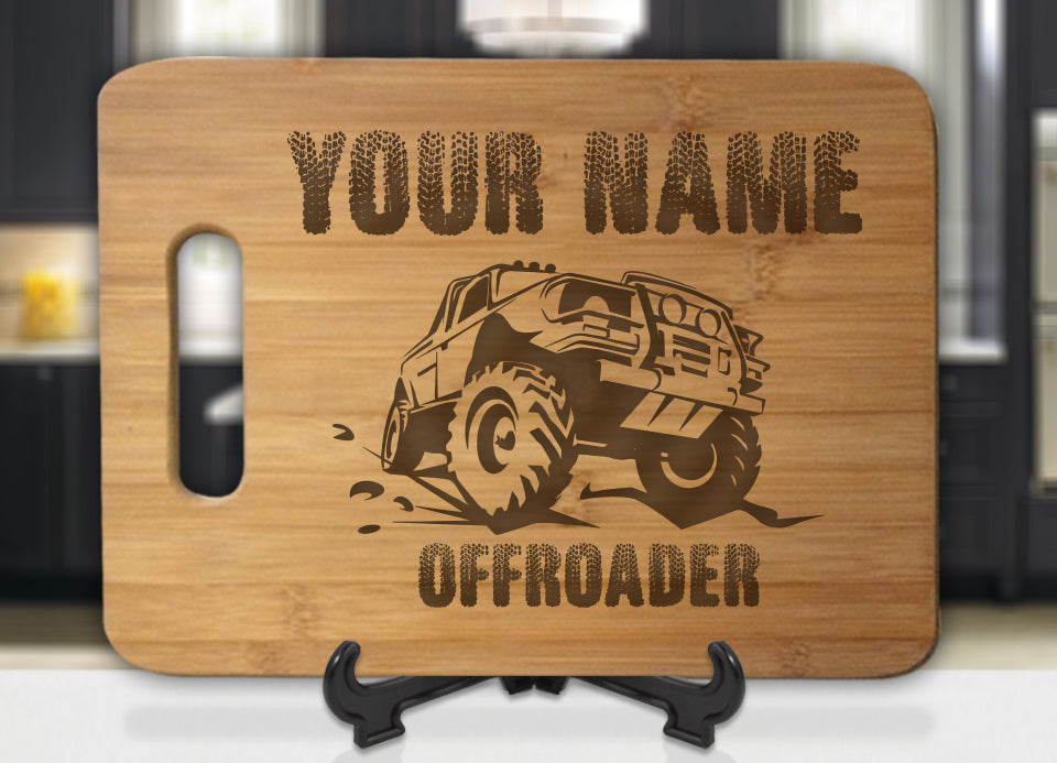 Personalized Name OFF-ROADER Engraved Cutting Board - Bee3dgifts