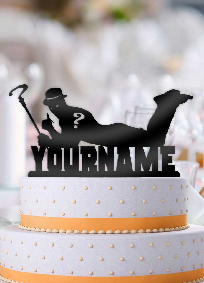Personalized Riddler Cool Birthday Cake Topper - Bee3dgifts