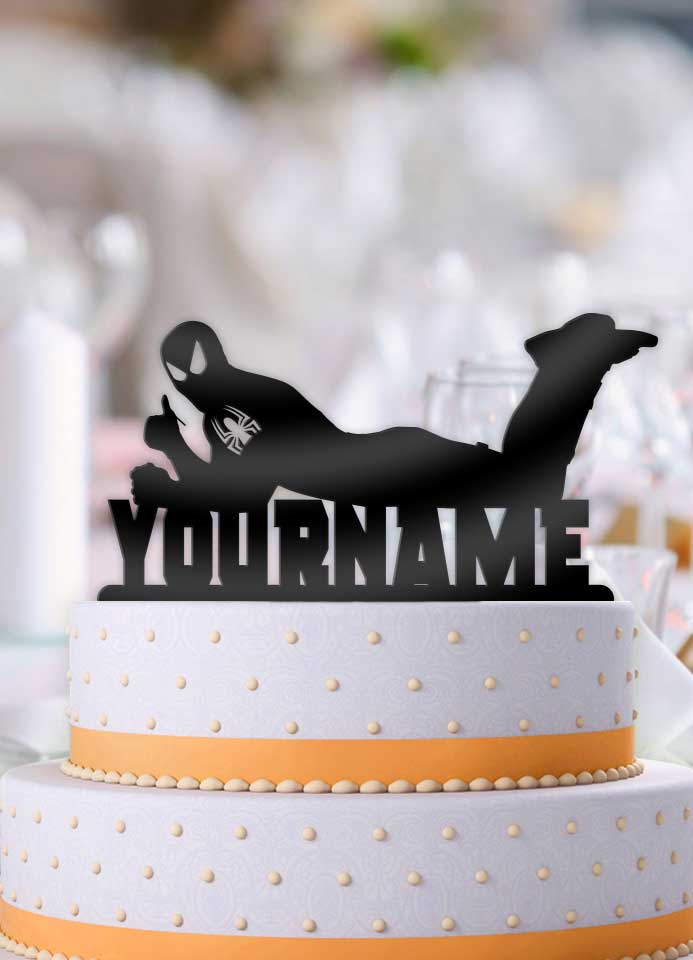 Personalized Spiderman Cool Birthday Cake Topper - Bee3dgifts