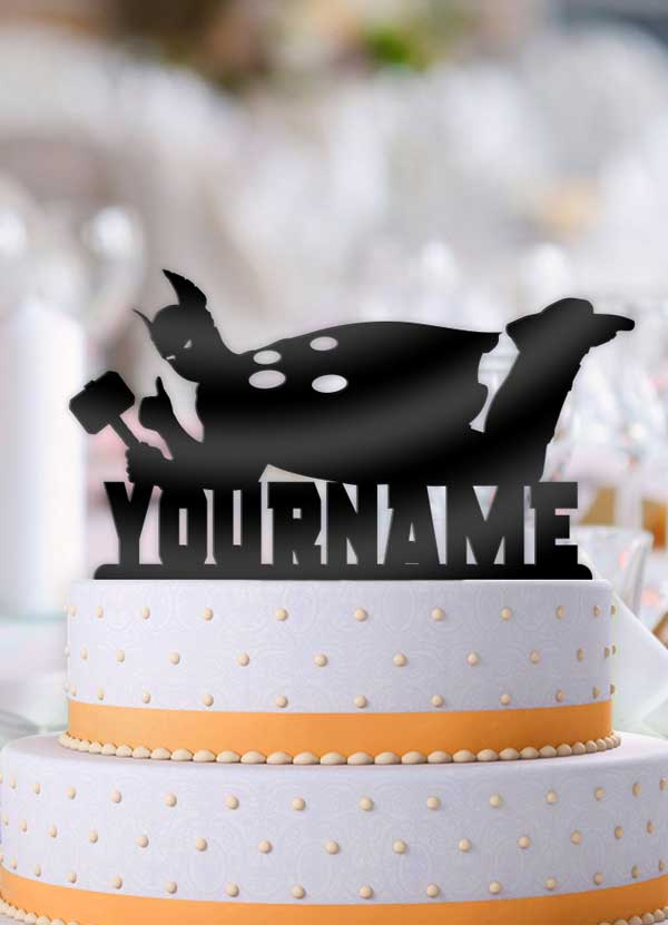 Personalized Thor Cool Birthday Cake Topper - Bee3dgifts