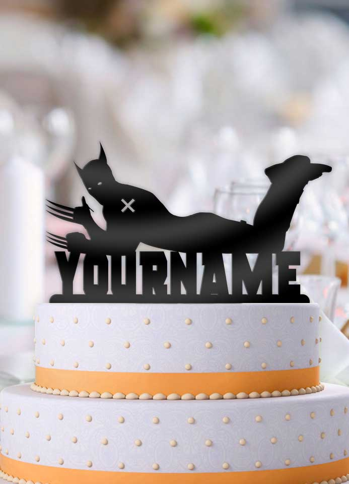 Personalized Wolverine Cool Birthday Cake Topper - Bee3dgifts