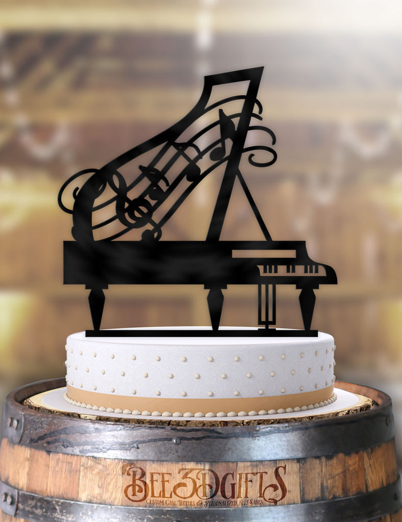 Grand Piano Music Birthday Cake Topper
