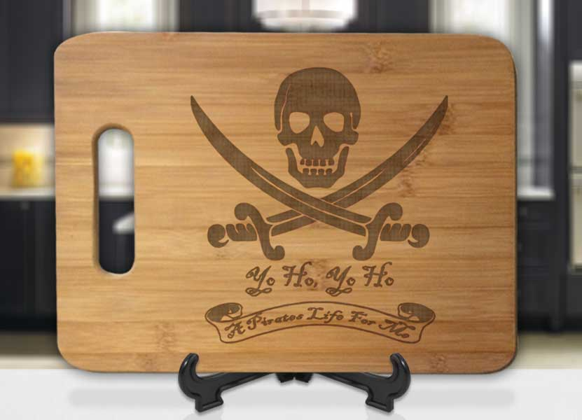 Yo Ho Pirate Life For Me Engraved Cutting Board - Bee3dgifts