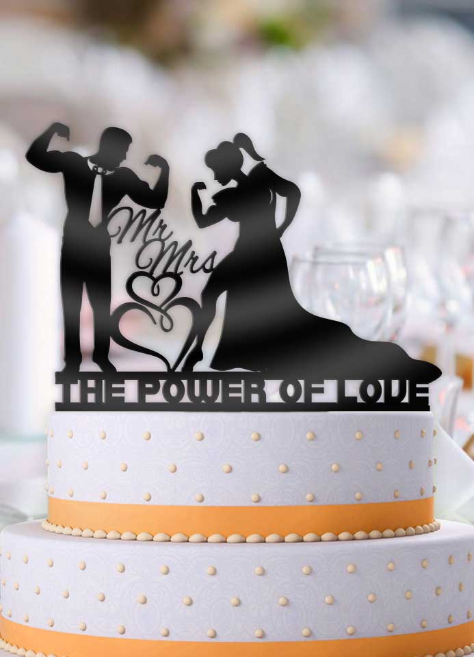 The Power Of Love Couple Wedding Cake Topper - Bee3dgifts