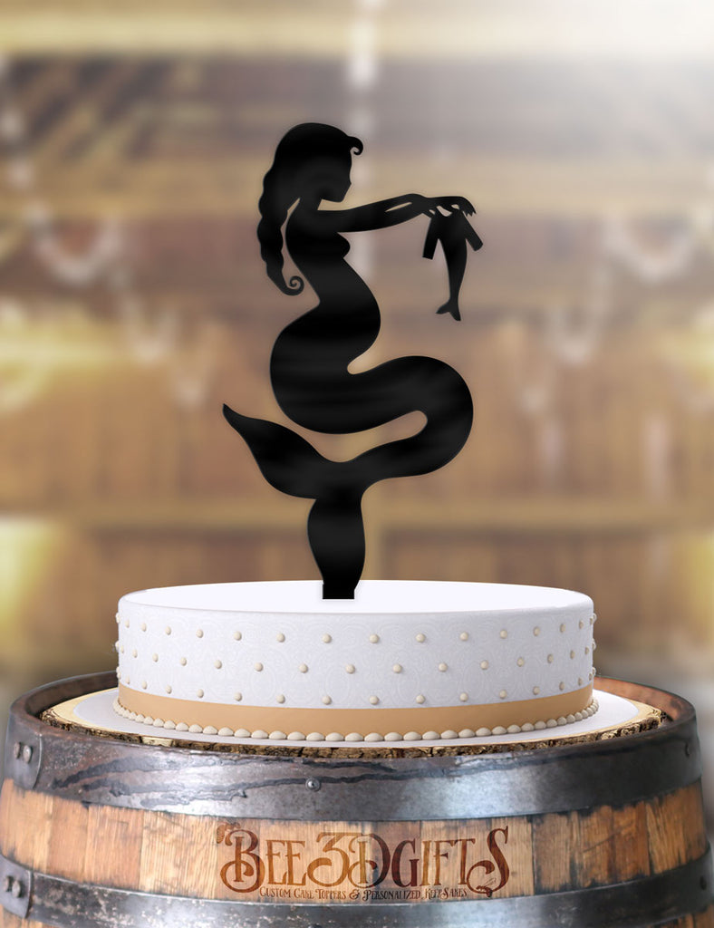 Mermaid Mother To Be Cake Topper - Bee3dgifts