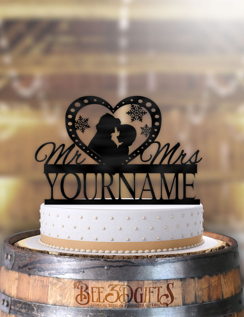 Personalized Anna and Kristoff Profile Cake Topper - Bee3dgifts